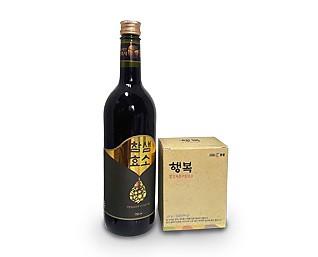 액상발효식품'참샘'(750ml*1병) 곡물발효식품'행복'1박스(30포)